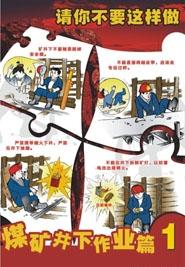 煤矿井下作业安全挂图