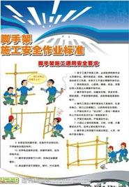 脚手架施工安全作业标准挂图